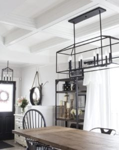 white farmhouse dining room