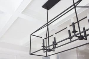 white grid coffered ceiling