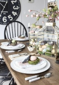 Farmhouse Easter Table Setting