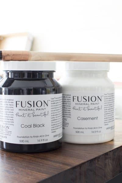 Fusion Mineral Paint Coal Black and Casement
