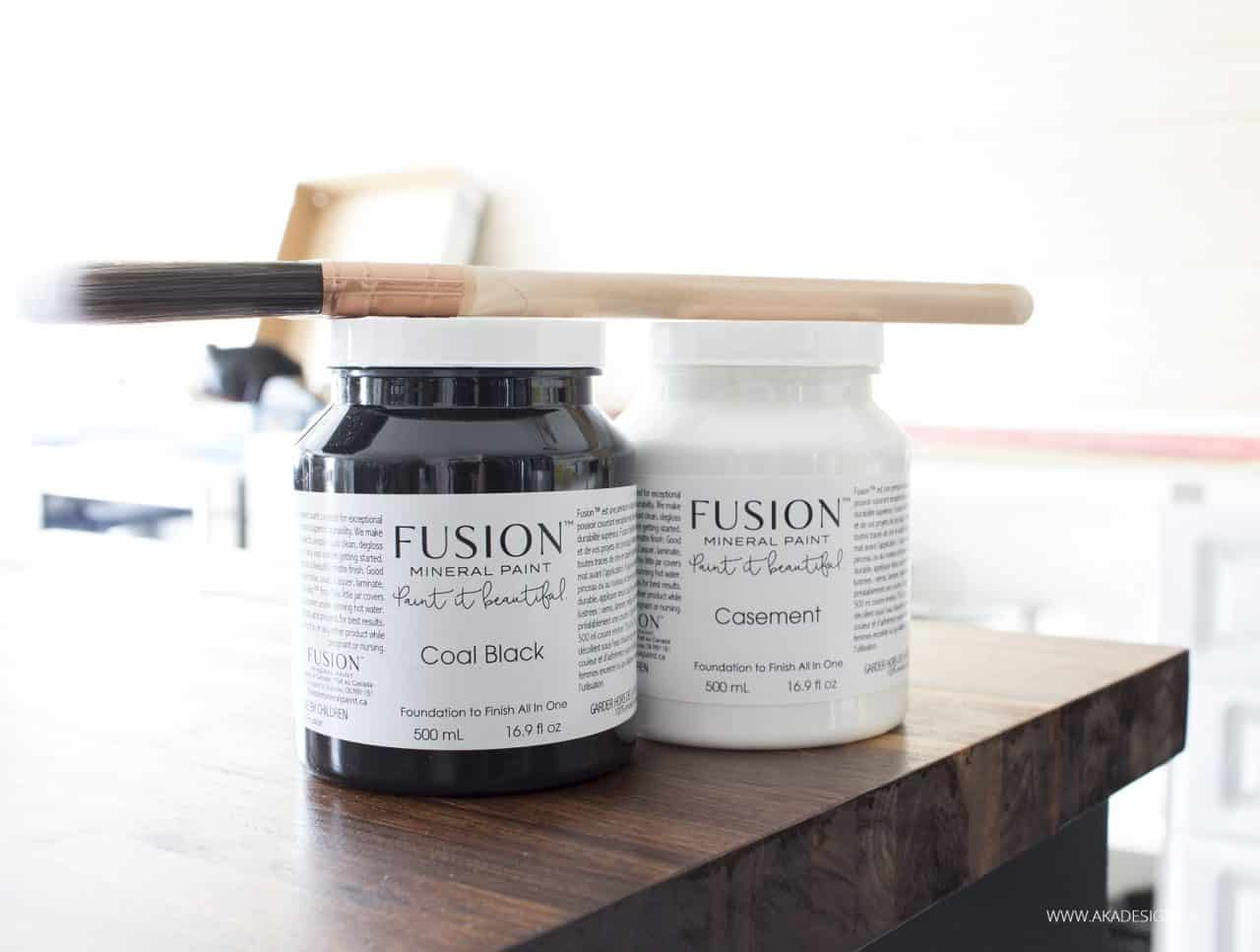 Fusion Mineral Paint Coal Black and Casement