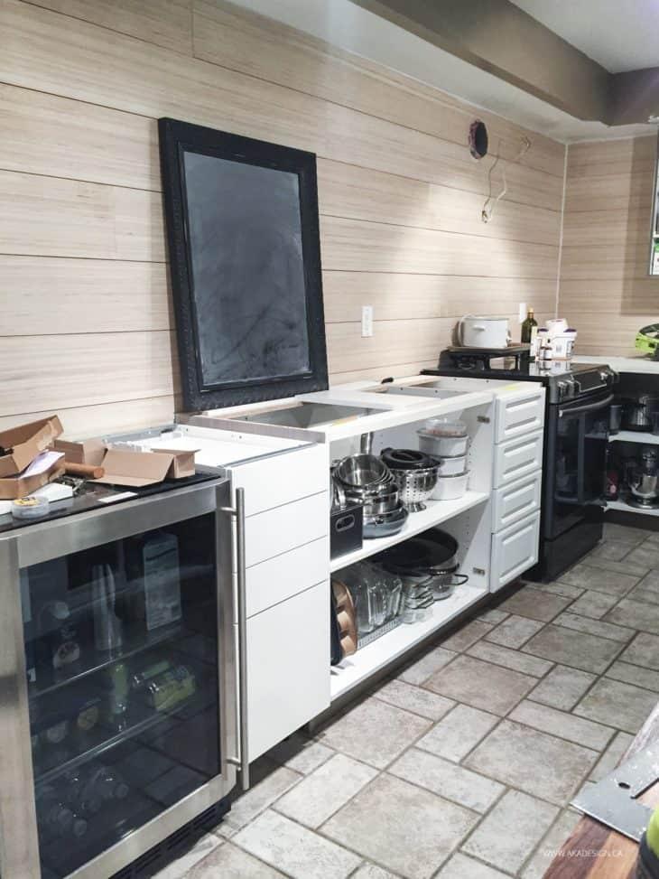 back wall kitchen progress
