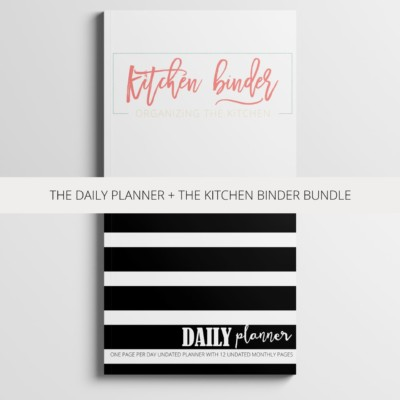 daily planner plus kitchen bundle