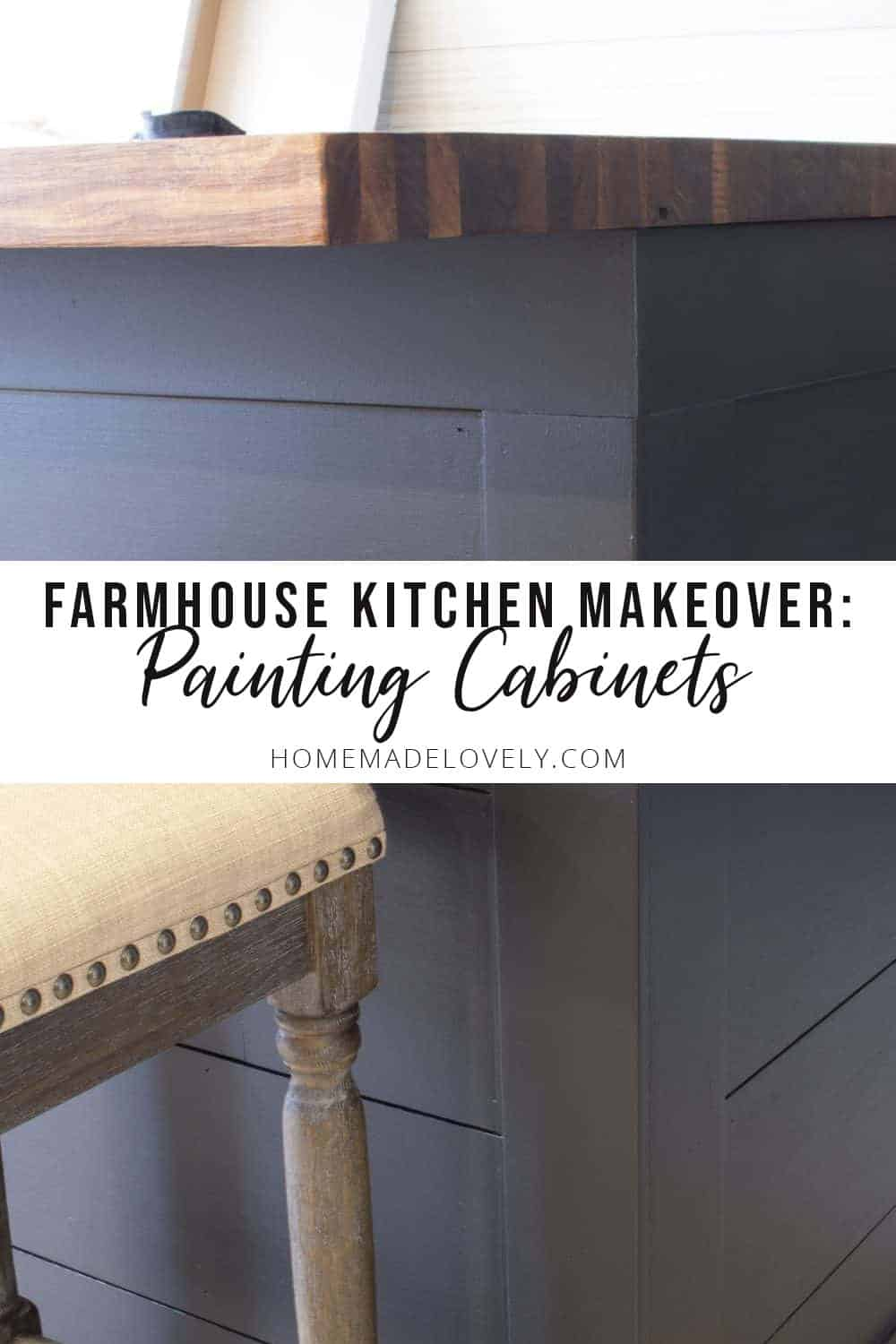 farmhouse kitchen makeover painting old cabinets