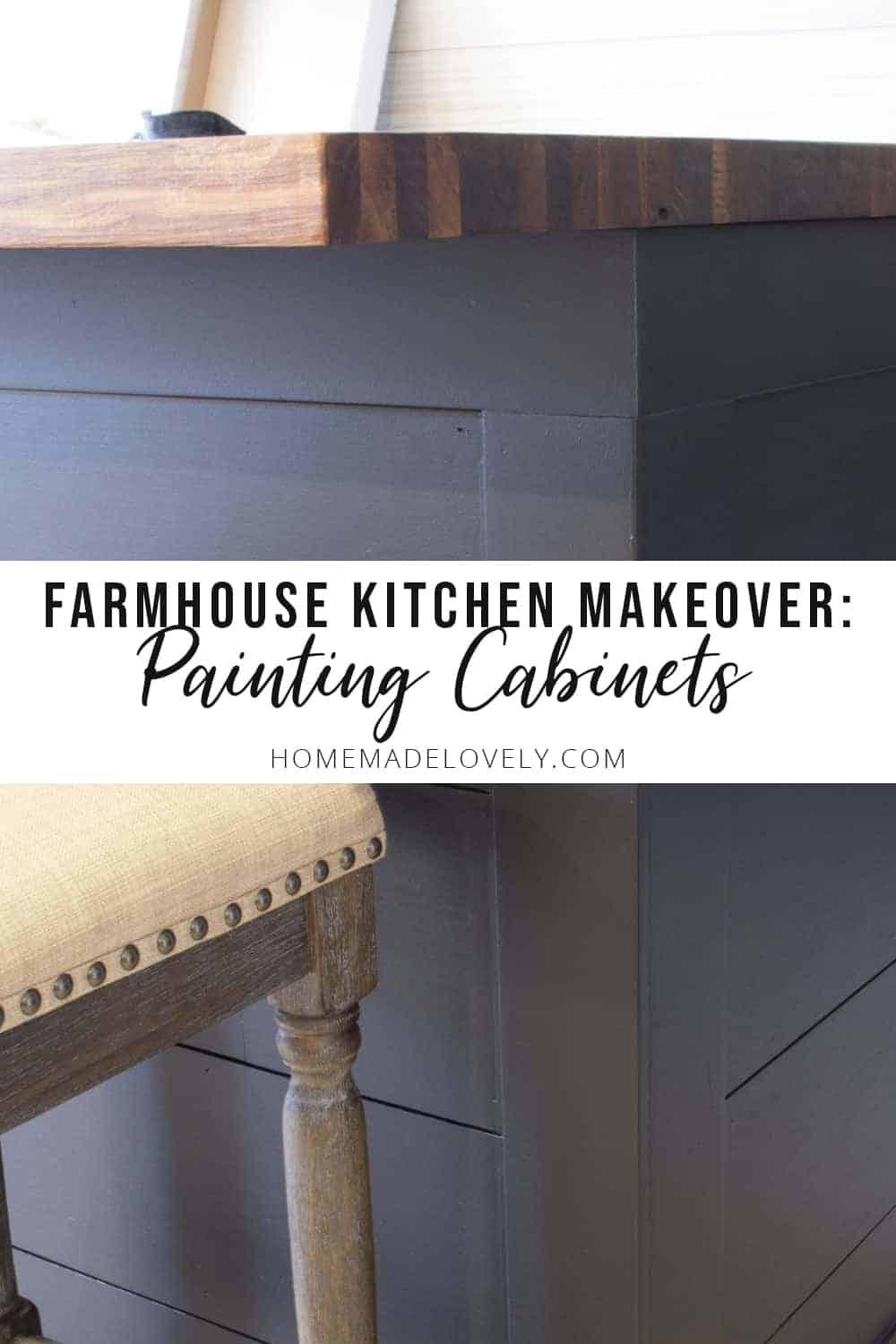 OUR MODERN FARMHOUSE KITCHEN MAKEOVER   Painting the Old Cabinets