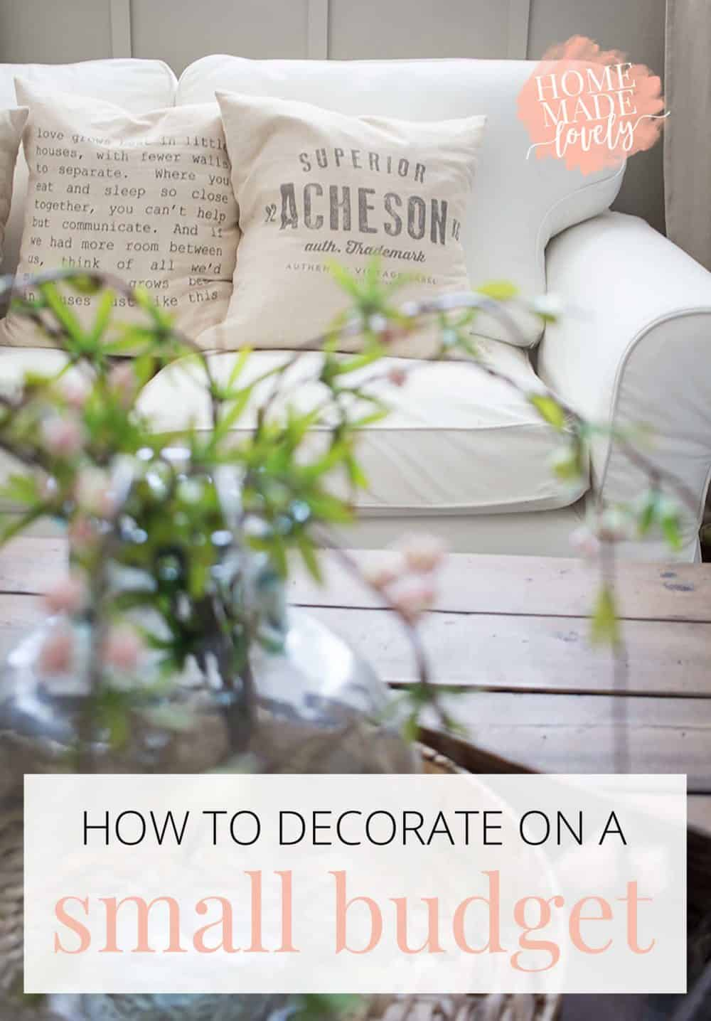So you want to decorate, but your budget is small? Here's how to decorate on a small budget! 15 low-cost ideas plus where to shop for budget finds.
