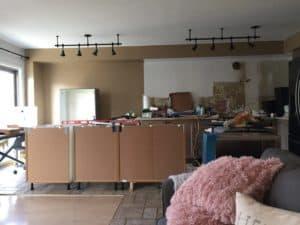 kitchen island progress