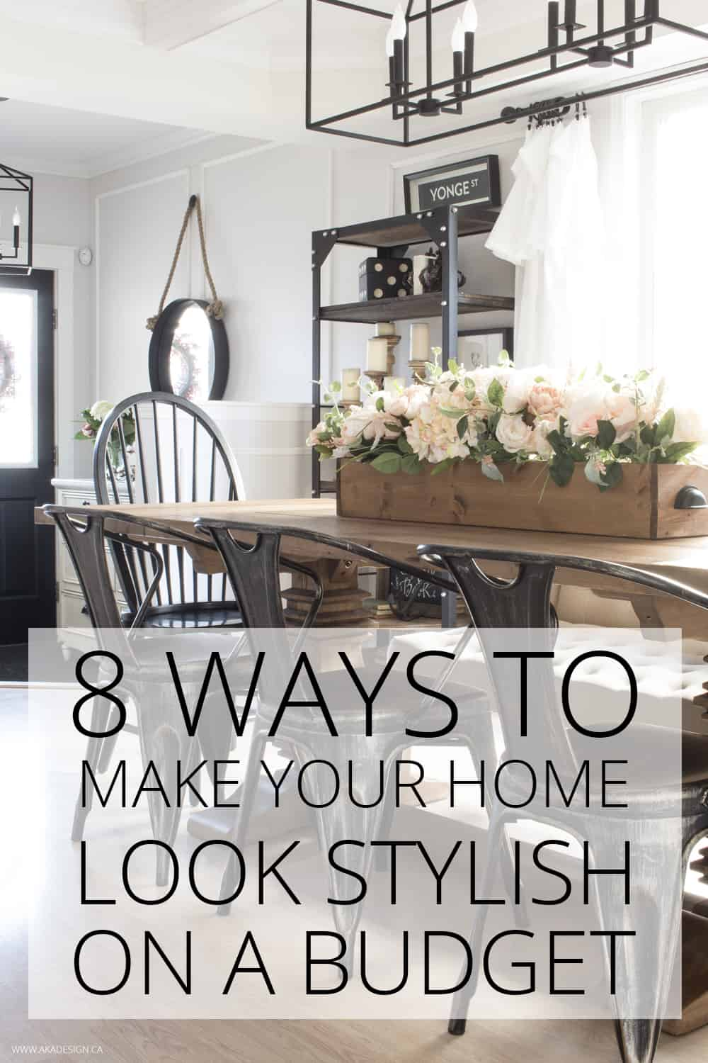 8 ways to make your home look stylish budget