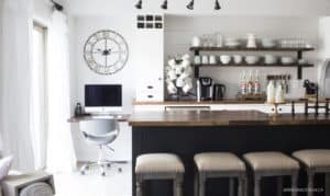 AKA Design | black, white and wood kitchen