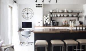 AKA Design | black, white and wood kitchen