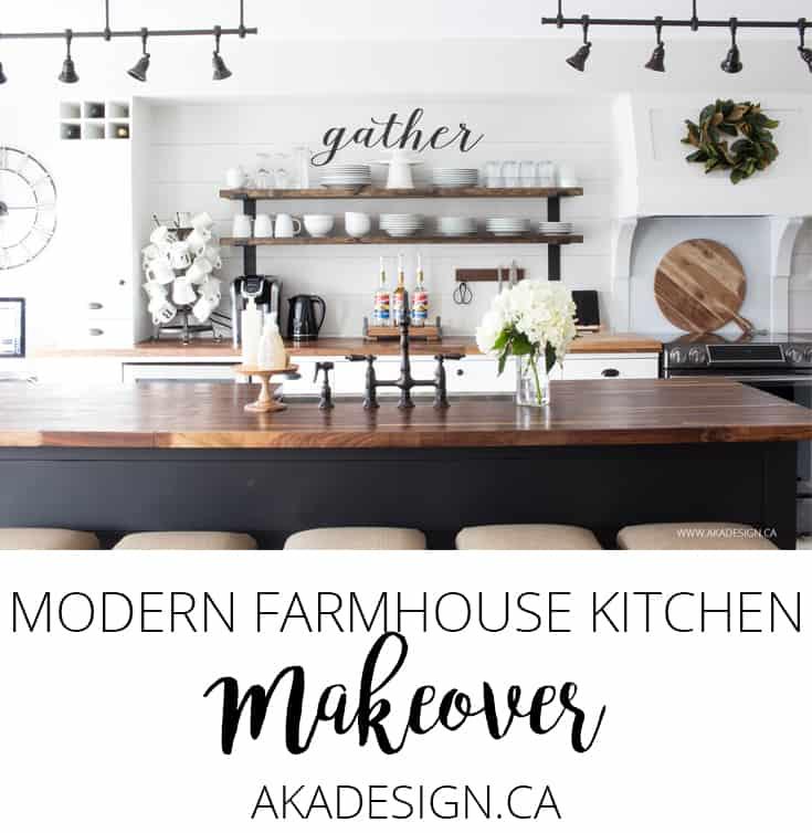 Modern Kitchen Makeover: OUR MODERN FARMHOUSE KITCHEN MAKEOVER