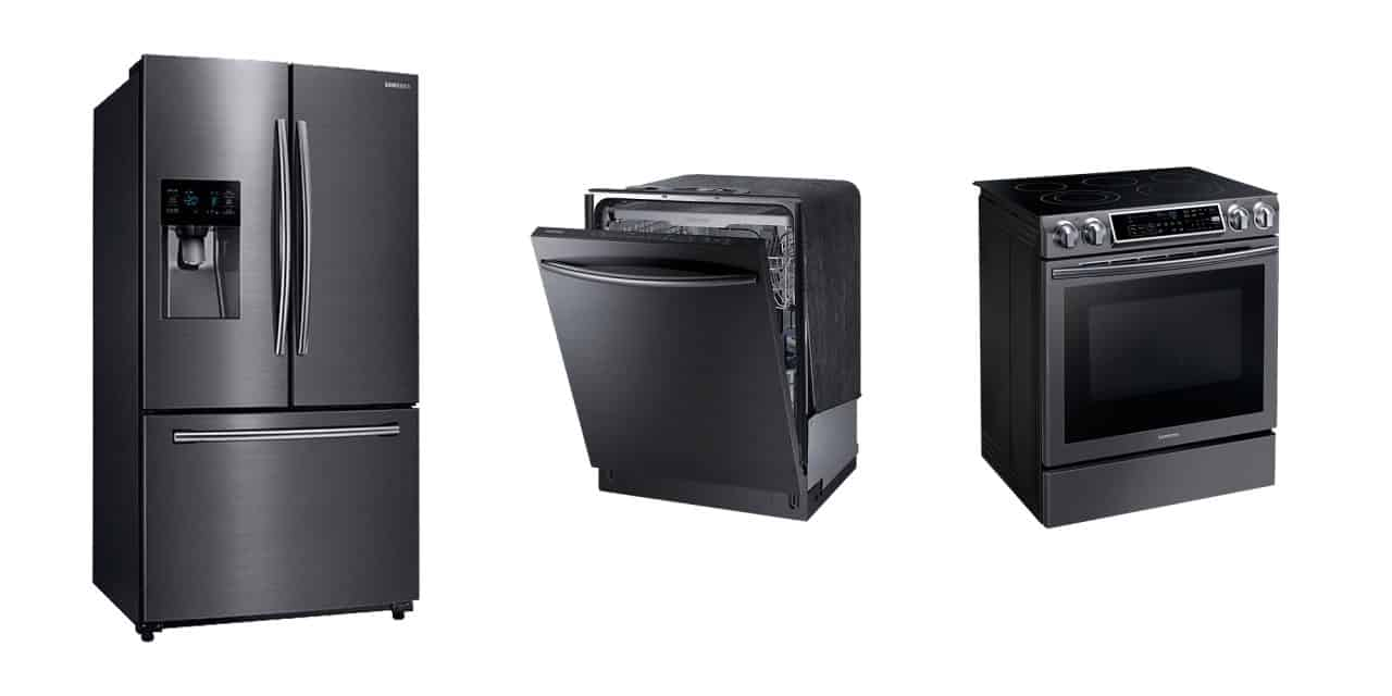 Our new black stainless steel appliances features we adore - Built in microwave home depot ...