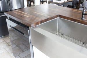 butcher block counter