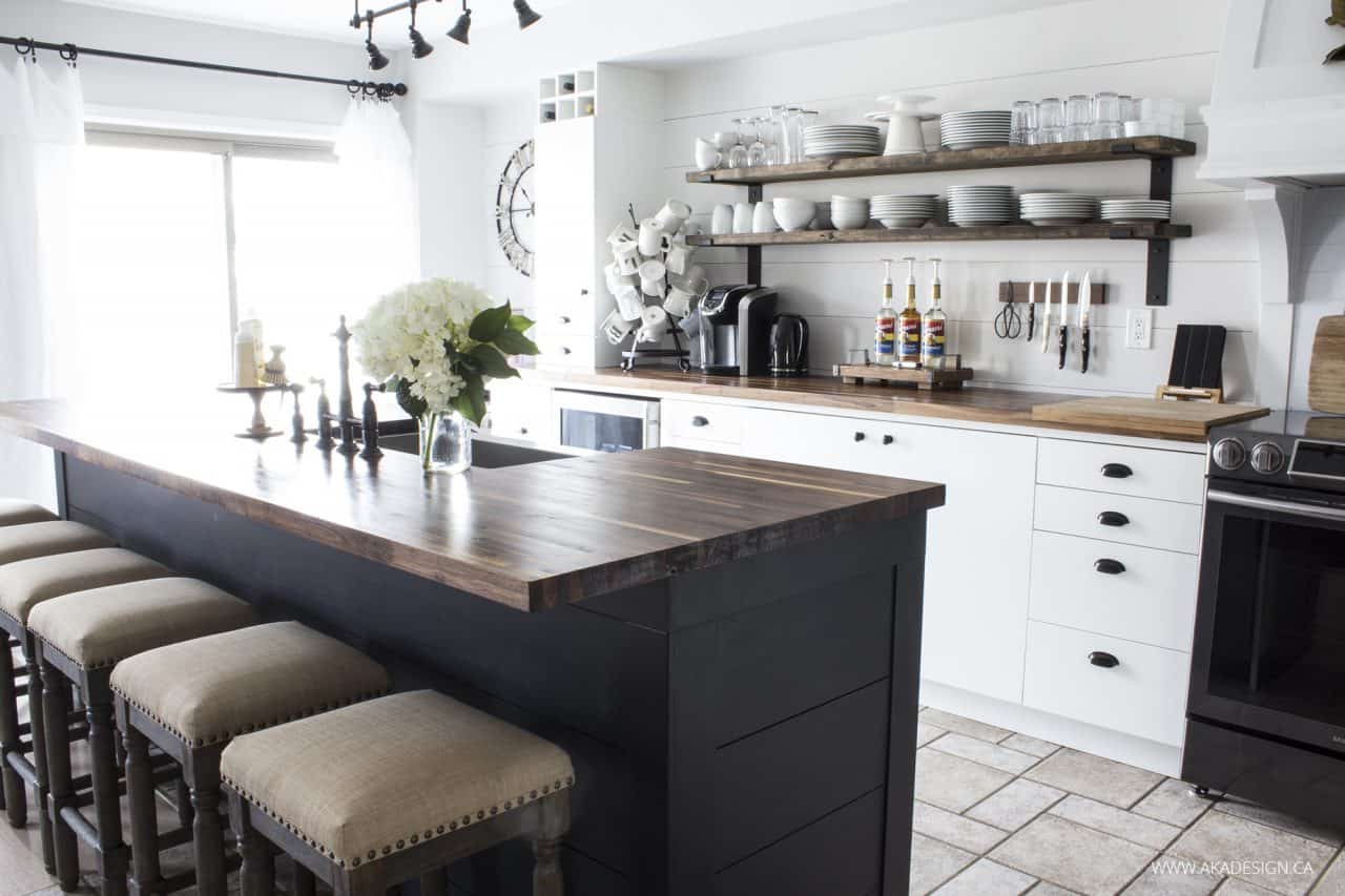 amusing black farmhouse kitchen | OUR MODERN FARMHOUSE KITCHEN MAKEOVER | The Reveal