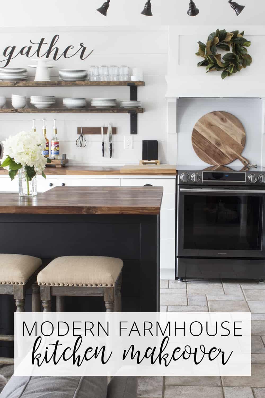 modern farmhouse kitchen makeover