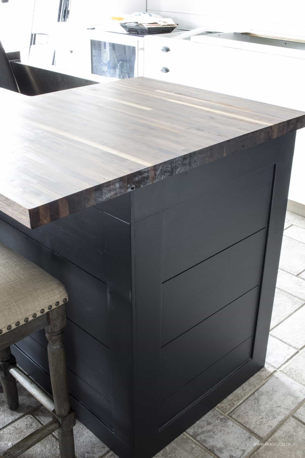 walnut butcher block with waterlox