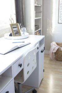 white craft desk