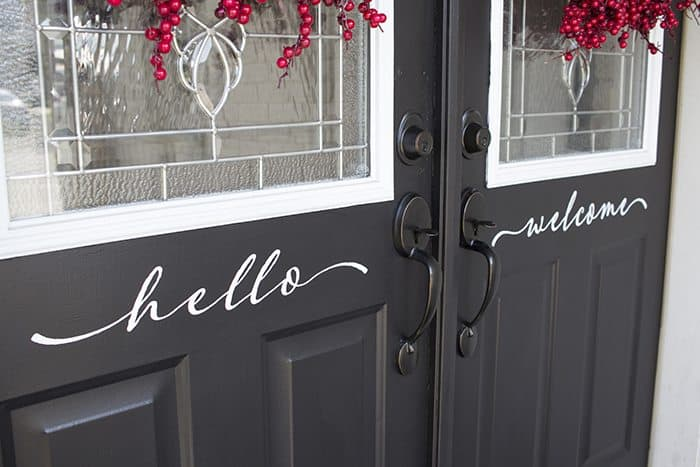 AKA Design hello welcome front doors