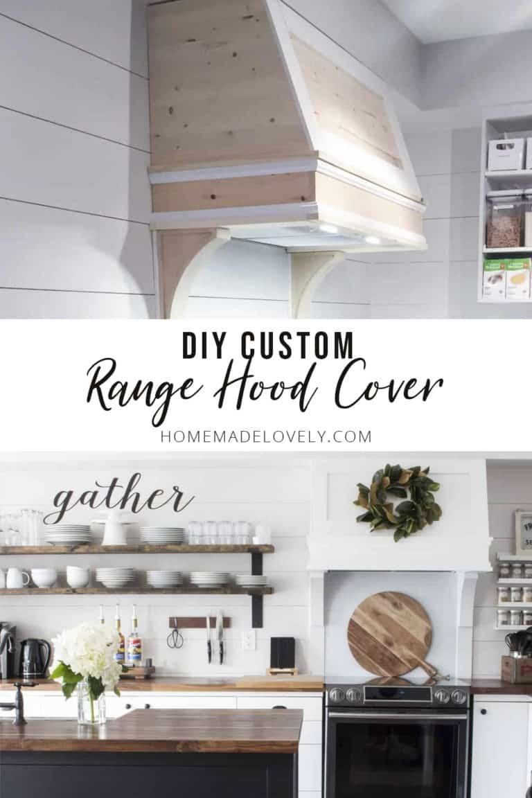 DIY Custom Range Hood Cover