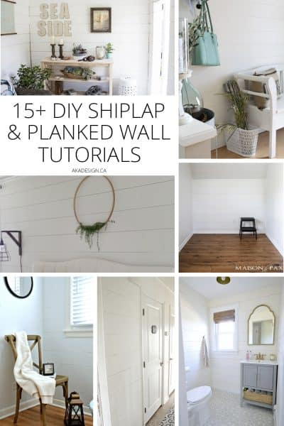 DIY Shiplap and Planked Wall Tutorials