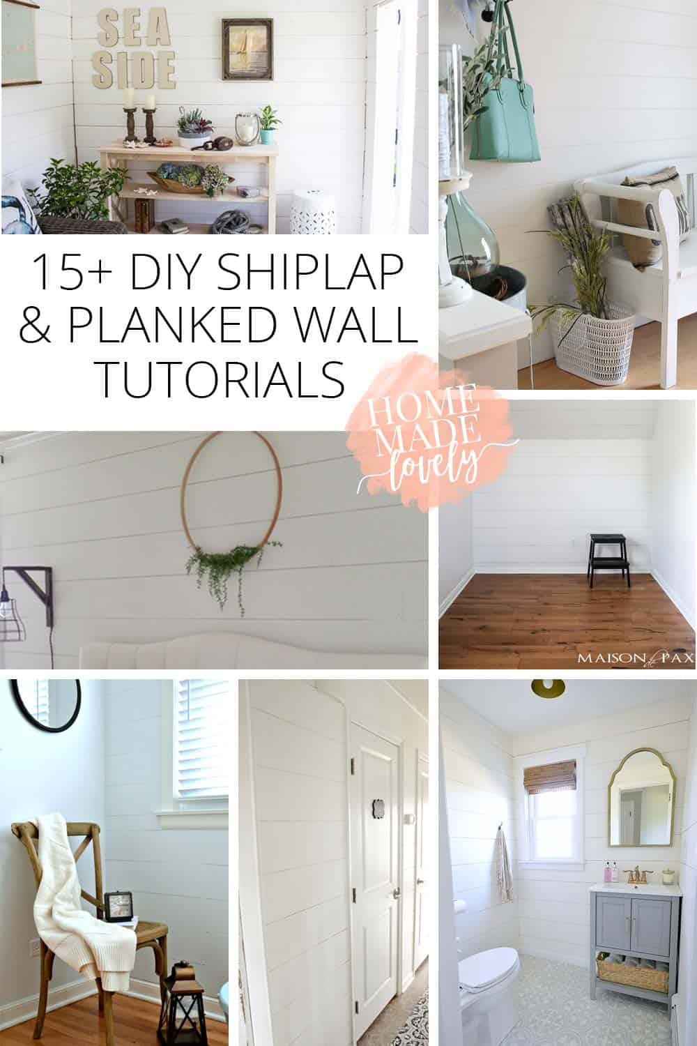 Not all of us are lucky enough to have Chip and Joanna find original shiplap in our house. But we can DIY shiplap and use these planked wall tutorials!