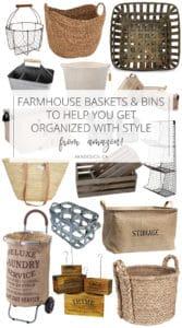 Farmhouse Baskets from Amazon