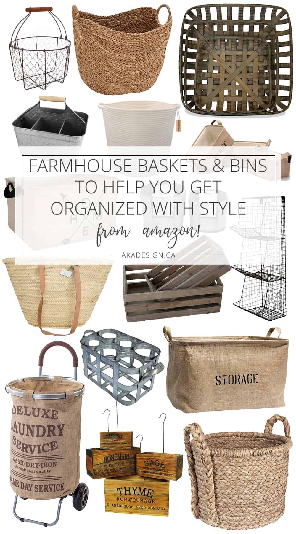 Farmhouse Baskets from Amazon?!