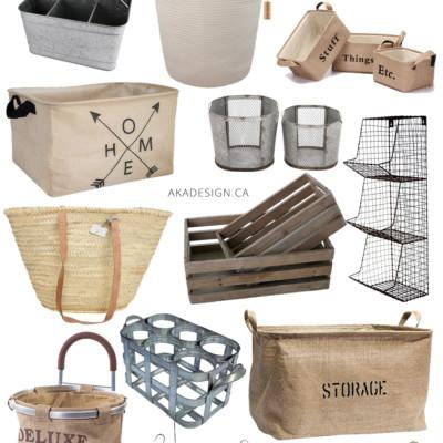 Farmhouse Baskets & Bins to Help You Get Organized From Amazon!