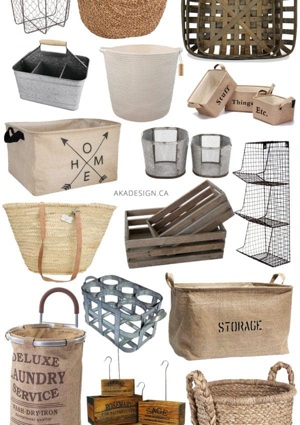Farmhouse Baskets & Bins to Help You Get Organized From Amazon!