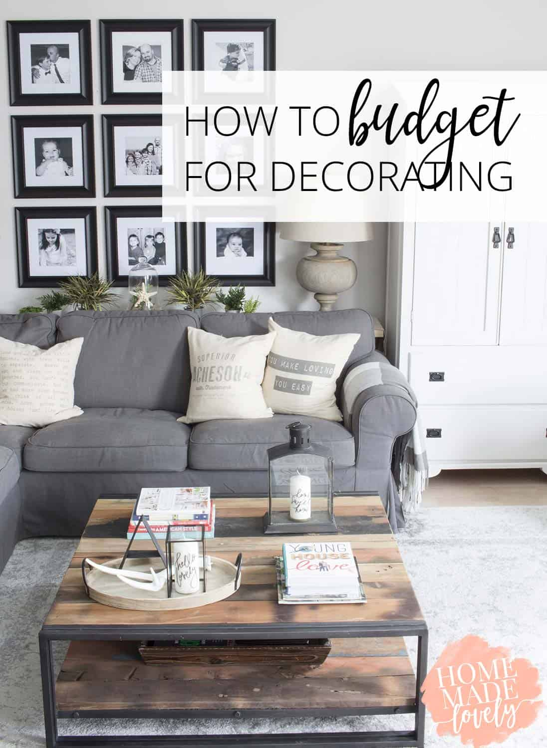 Ready to decorate your home? Of course, you need to know how to budget for decorating! This post shares how & also has budget decorating ideas too!