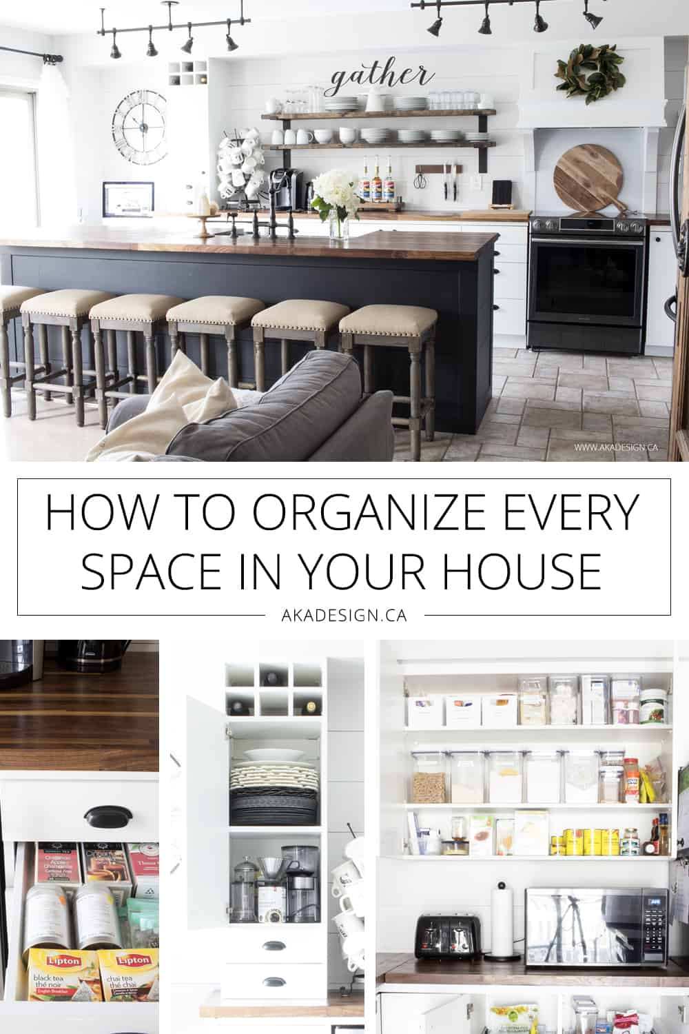 how to get your house clean and organized