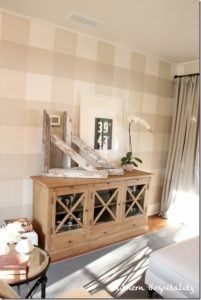 SouthernHospitality Gingham Painted Wall