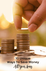Unique ways to save money all year