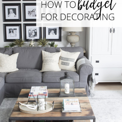 how to budget for decorating