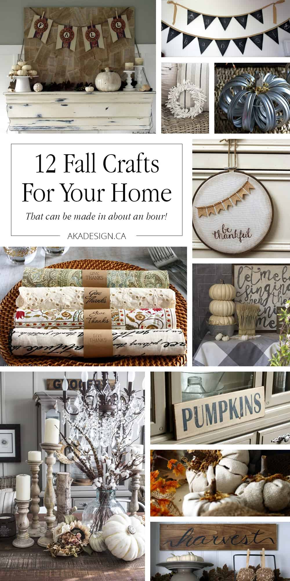 12 fall crafts for your home