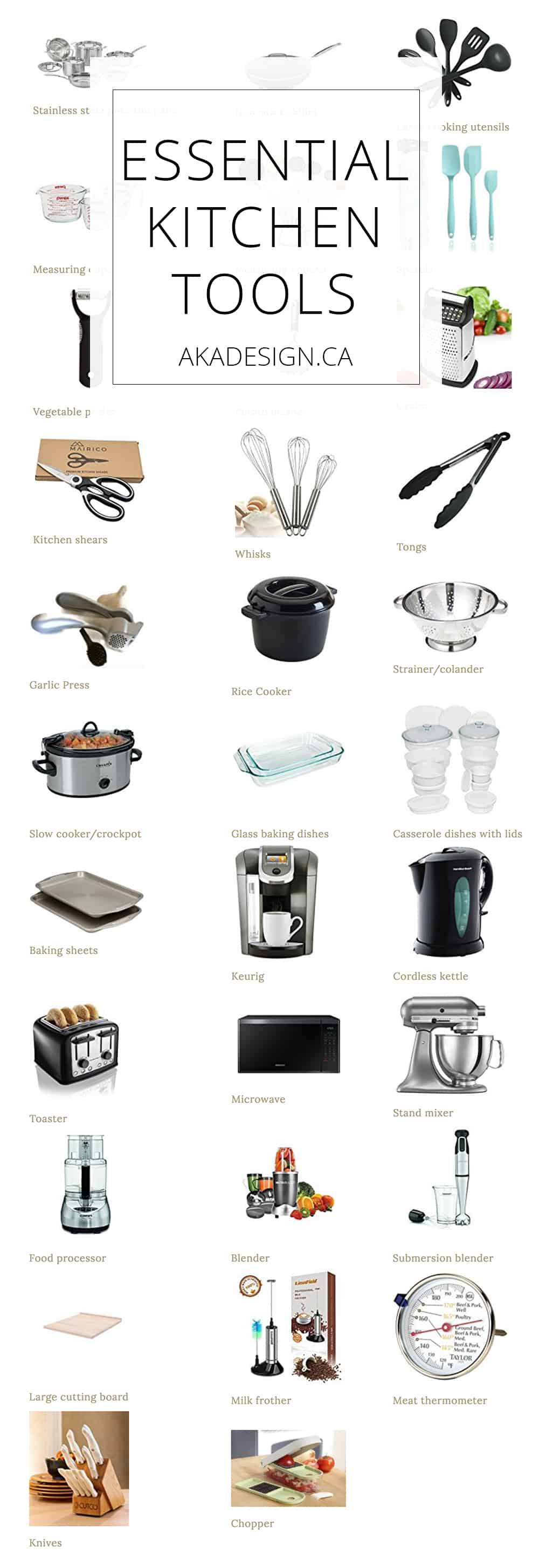 Essential Kitchen Tools - 25+ Tools for a Well-Appointed Kitchen