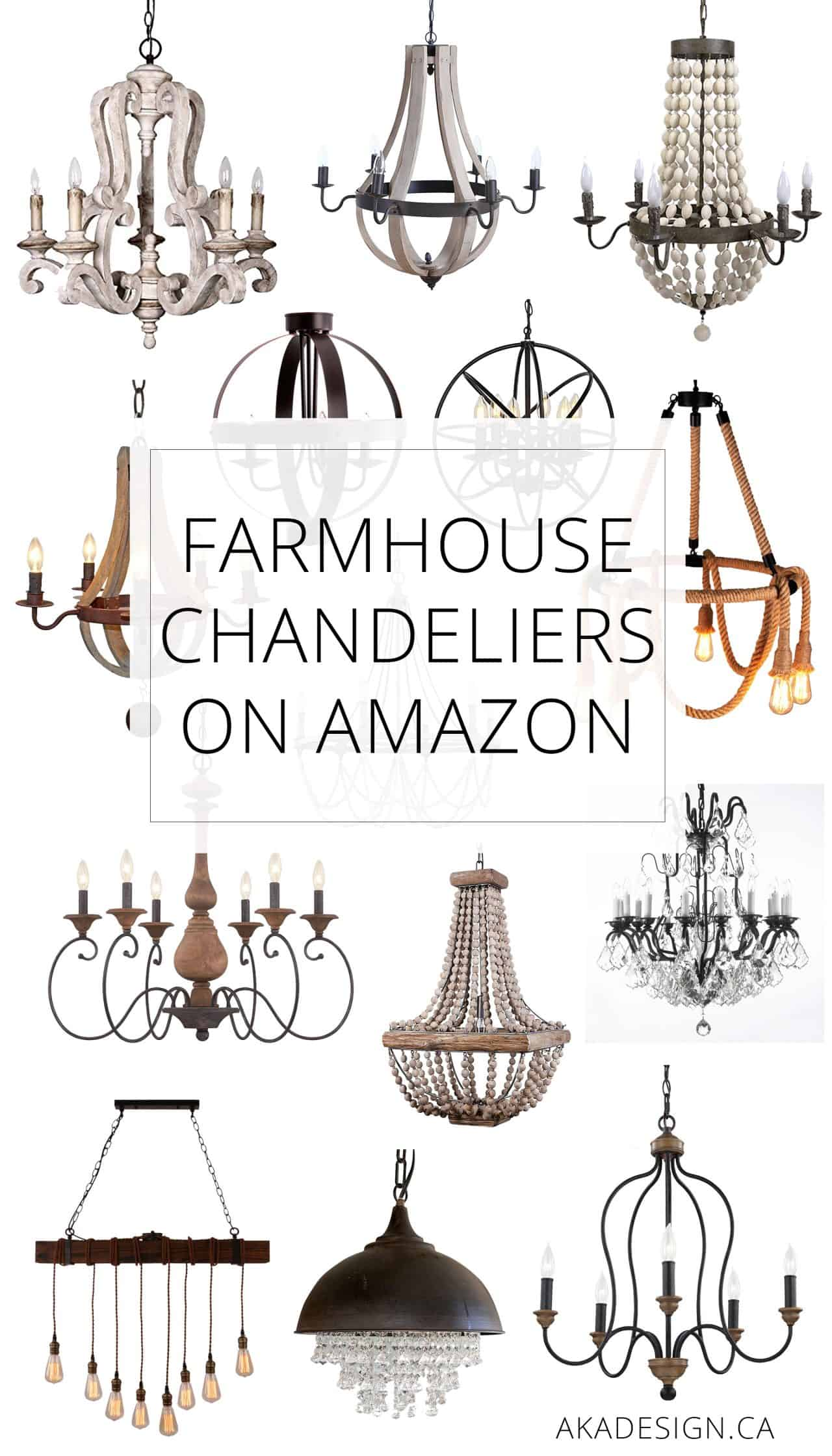 Fancy Who knew you could find this many pretty farmhouse chandeliers on Amazon