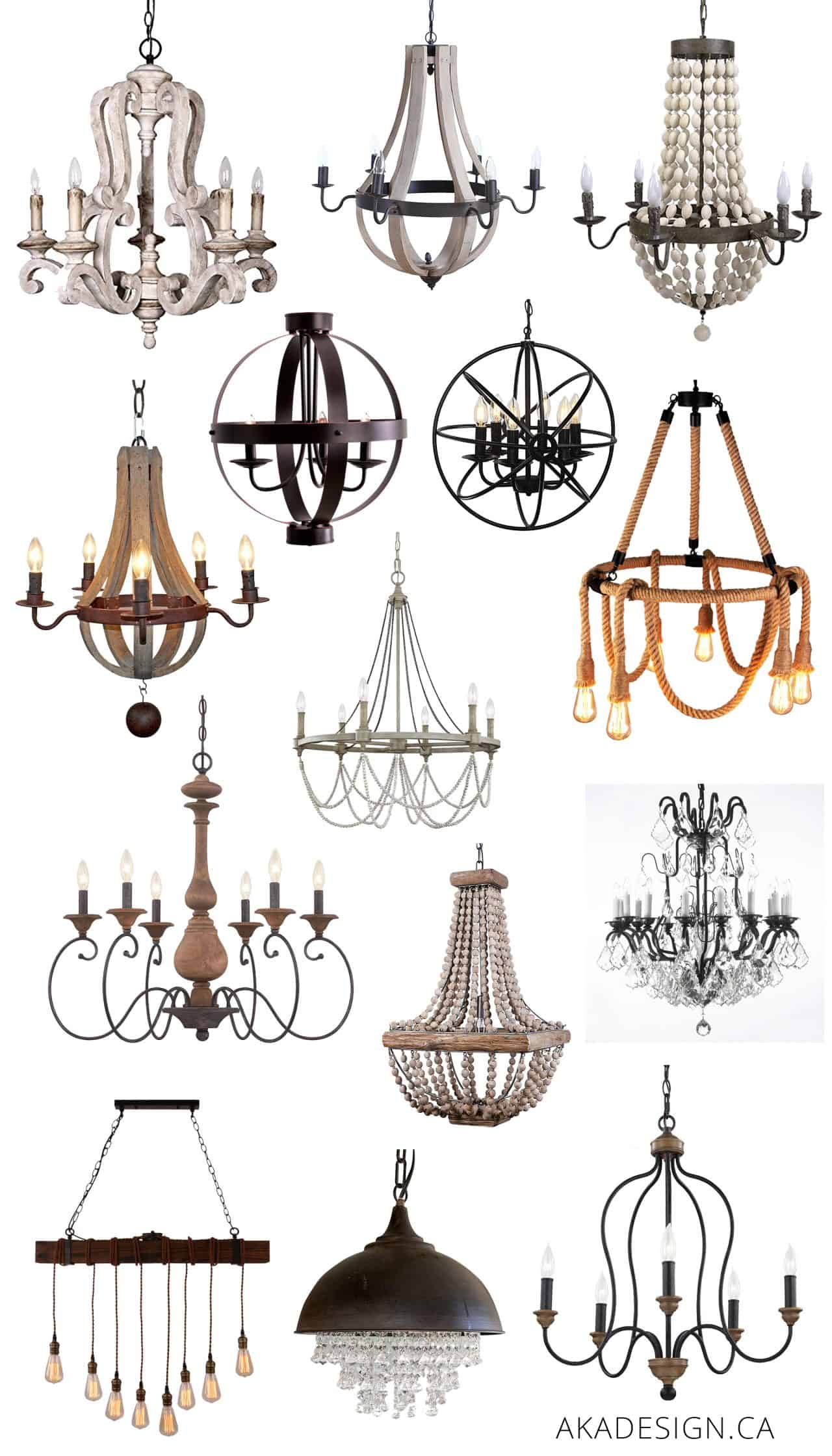 Unique Farmhouse Chandeliers on Amazon