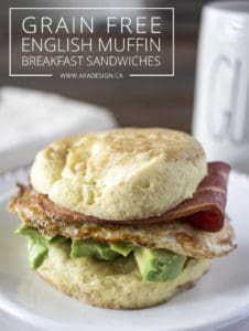 grain-free english muffin breakfast sandwich