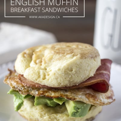 Grain Free English Muffin Breakfast Sandwiches