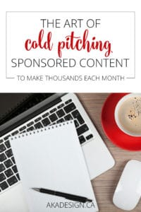 The Art of Cold Pitching Sponsored Content