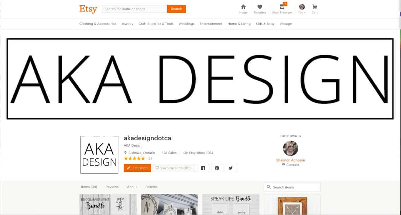 aka design etsy shop