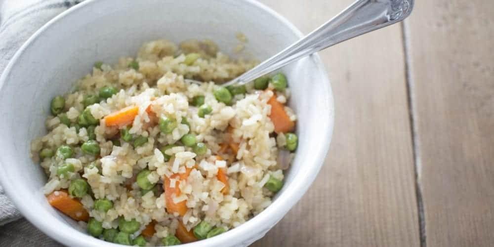 no egg vegetable fried rice