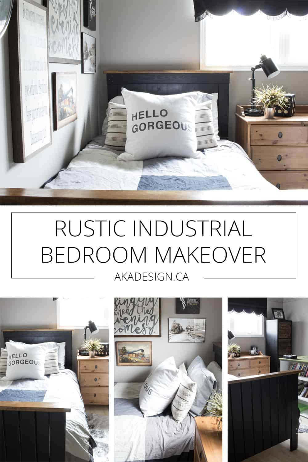 rustic industrial bedroom makeover