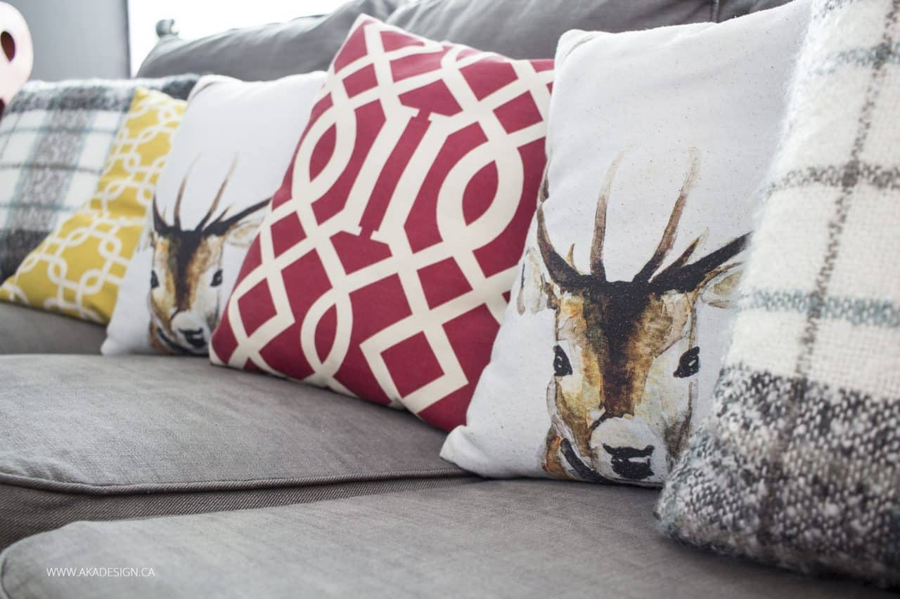 AKA Design Basement Pillows on Couch