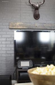 AKA Design Basement TV Faux Mantel