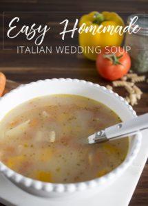 Easy Homemade Italian Wedding Soup AKA Design