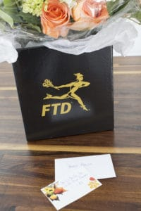 FTD Flowers notecard - we can arrange that!