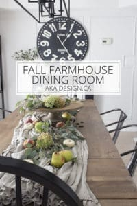 Fall Farmhouse Dining Room AKA Design