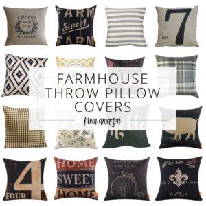 Farmhouse Throw Pillow Covers from Amazon pin